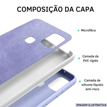 CAPA SILICONE AVELUDADA PREMIUM PINK- SAMSUNG A02s