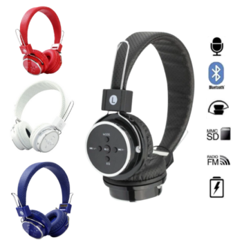 FONE DE OUVIDO SEM FIO BLUETOOTH MICRO USB FM P2 MP3 – AB05