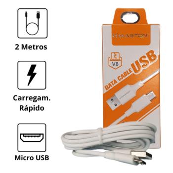 CABO DE DADOS USB H'MASTON – MICRO USB (V8) – 2 METROS