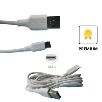 CABO DE DADOS USB H'MASTON – TIPO-C – 2 METROS